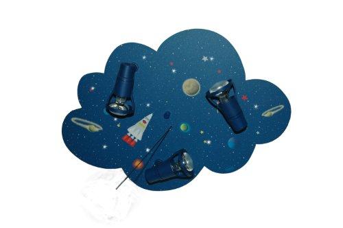 Waldi luci di soffitto della lampada nuvola navetta 3-luci con LED luci di Natale WAL-66300, 0