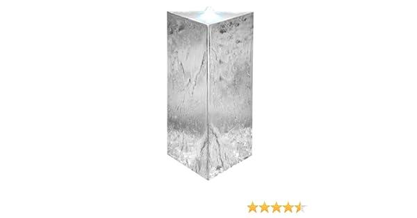 Dreieckiger S/äulenbrunnen aus Edelstahl mit LED-Beleuchtung