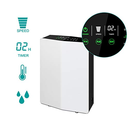 41w xa4RkHL. SS500  - Lbellay Double electrostatic Negative ion Intelligent air purifier Touch type home air micro purifier Wind speed adjustment | temperature and humidity display,White-65 * 43 * 20 cm