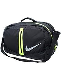 57dcbf40c9d3 Nike Run Duffel Bag 34L-Black Volt   Silver