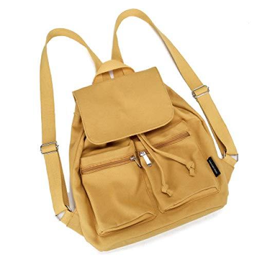 chultertasche Damen Rucksack Mochila Escolar Schultaschen für Teenager Mädchen Tragegriff, gelb (Gelb) - SDFGDFG-813 ()