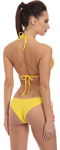 SHE Damen Bikini Set Anette Muster-E