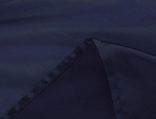 Balleay Femmes Robes Formelles Fente Avant Mousseline de Soie Plein Plissé Col Rond Sans manches Longue Robe de Festival Robes de Soirée Personnalisation Robes BA6766 Bleu Marine