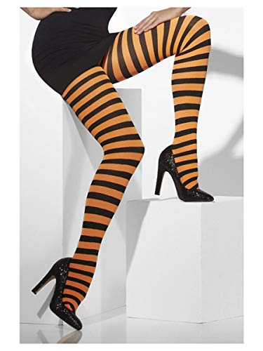 Smiffys 42716 Fever Opaque Tights and Striped- Pantys