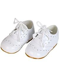 Niña Charol Zapatos con Cordones Dama De Honor Fiesta Zapatos Formales Bebé Tallas uk1-uk8