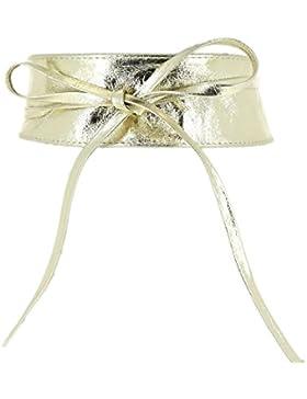 Fashiongen - Obi Cinturón de cuero genuino Cassiane