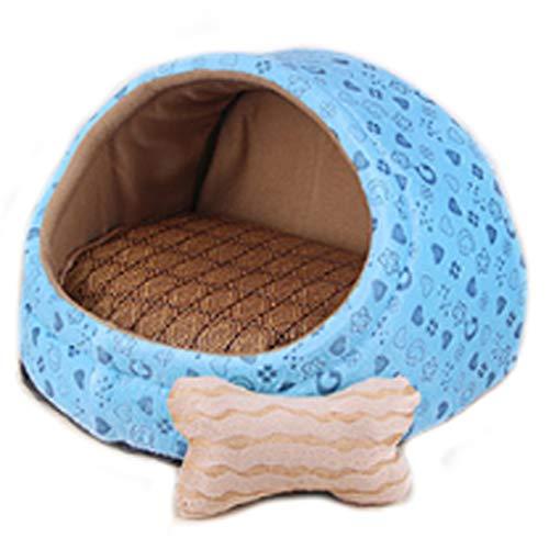 Weich Blue Love Figur Pet Nest abnehmbare und waschbar kleine und mittlere Hunde Sommer Mat Vier Jahreszeiten Universal Hundebett Katze Haus Villa drei Größe Optional HAODAMAI