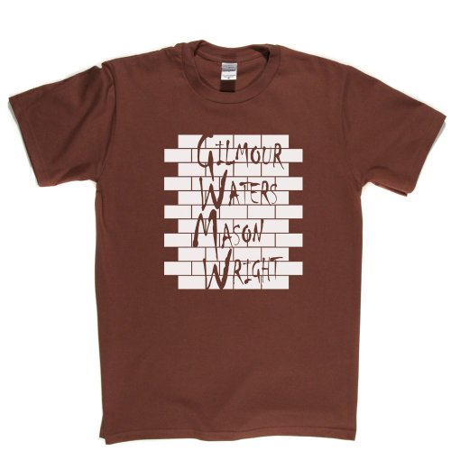 Gilmour Waters Mason Wright Orignal Line Up Floyd Band Tee T-shirt Braun