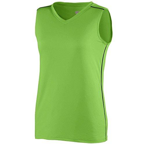 Augusta - T-shirt de sport - Femme vert - Vert citron/noir