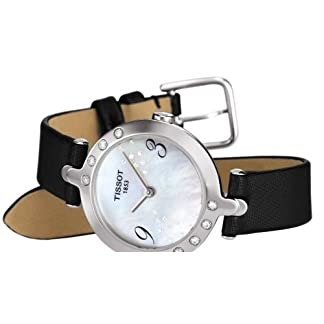 Tissot Flamingo T0032096711200 – Reloj de mujer de cuarzo, correa de piel color negro