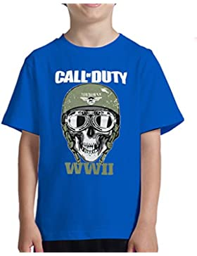 Acokaia Camiseta Niño Call of Duty Airbone WWII - 5 Colores