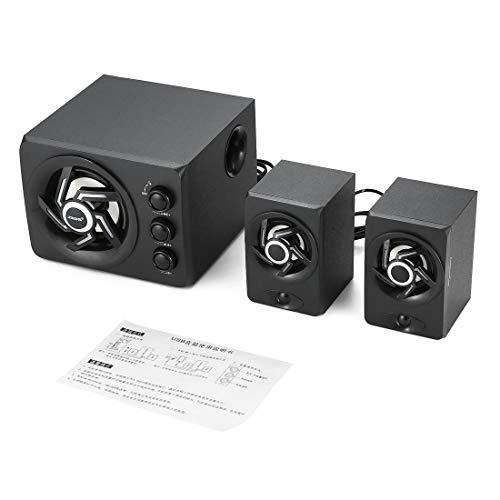 SADA D-209 Bluetooth Computer Lautsprecher Stereo Portable Multimedia Laptop USB Lautsprecher TF/U Disk Bass Gun Unterstützung - Schwarz