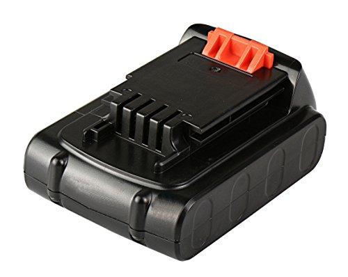 Mitsuru® 2000mAh Li-Ion 20V Akku Batterie für Black & Decker BL2018, LB20, LBX20, LBXR20 (Und Black 20v Decker Power Tools)