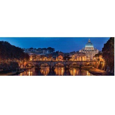 Clementoni collection panorama puzzle roma, 1000 pezzi, 39437