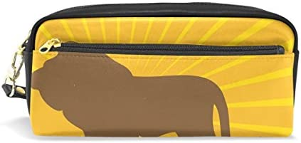 Coosun Lion Silhouette Portable Cuir PU Trousse Trousse Trousse d'école Pen Sacs papeterie Pouch Case Grande contenance Sac de maquillage B07FZYQHWZ | Prix Modéré  2b7630