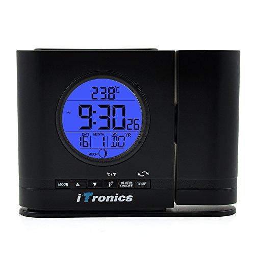 iTronics IR306 Digitale Projektionswecker Funk Tischuhr mit Bewegungssensor und Temperaturanzeige
