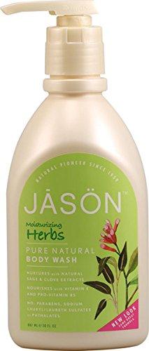 Gel Herbal Body Wash (Jason Natural Cosmetics Kr-uterextrakte Satin Dusche K-rper w-scht 30 fl. Unze. 215589)