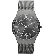 Skagen Slimline 233XLTTM - Reloj de caballero de cuarzo, correa de acero inoxidable color gris