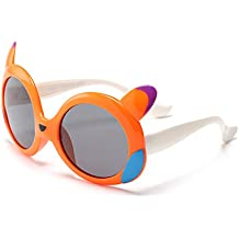 f9e461af09 Y-WEIFENG Diseño de Dibujos Animados para niños Gafas de Sol Marco Flexible  de Gel