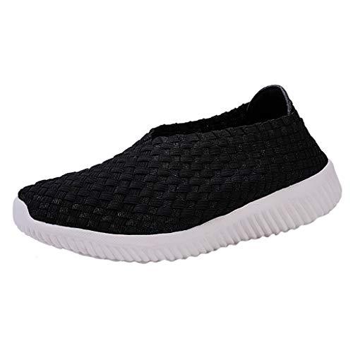 JYJM Freizeitschuhe Damen Mode Nationalen Stil Hohl Outdoorschuhe Manuelle Weben Sommer Flach Atmungsaktive Schuhe Leichtgewicht Weicher Boden Turnschuhe (Kostüme Nationale Stiefel)