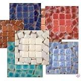 MosaicMicros 5x 5x 3mm 10G Lot de 100Carreaux de mosaïque en céramique émaillée Mini, Ivoire...