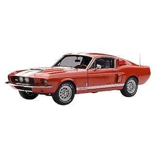 Autoart 72906 - Shelby Mustang GT 500 - 1967 - rot mit weißen Streifen - 1:18