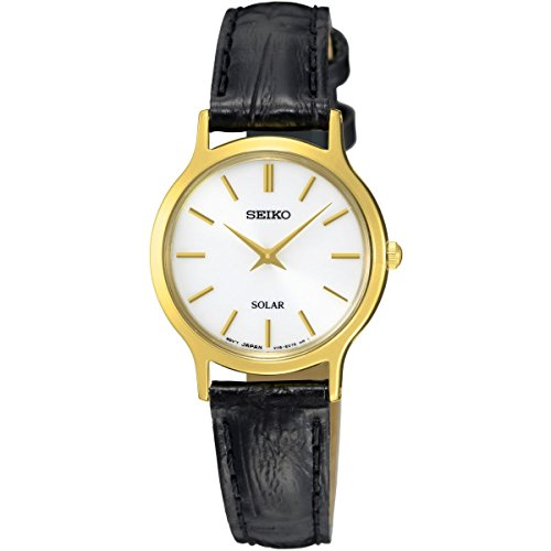 Seiko Solar Ladies Gold Plated Strap Watch (Plated Gold Watch)