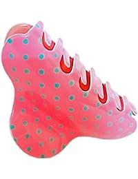 JAYAS COLLECTIONS Ladies Designer Hair Clips / Catch Clips - Dotted Design (dark Pink)