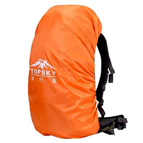 oxking TopSky Outdoor Wandern Klettern Unisex Canvas Rucksack Daypacks Wasserdicht Professionelle Bergsteigen Rucksack t30621Schultertasche 40l-60l Hohe Cpacity Unisex Trekking Reisen Rucksack Tasche Orange - orange