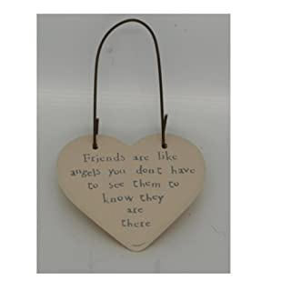 EAST OF INDIA LITTLE MESSAGE HEARTS SIGN TAGS - BEST MUM - MR & MRS - MOTHER (Friends are like angels you don't -2833)