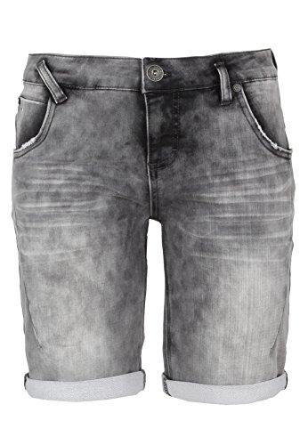 SUBLEVEL Damen Sweat Bermuda-Shorts | Kurze Hose für Frauen in Jeansoptik und Used-Look grey XS