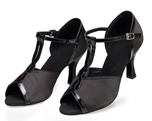 TDA , Peep-Toe femme 7.5cm Heel Black