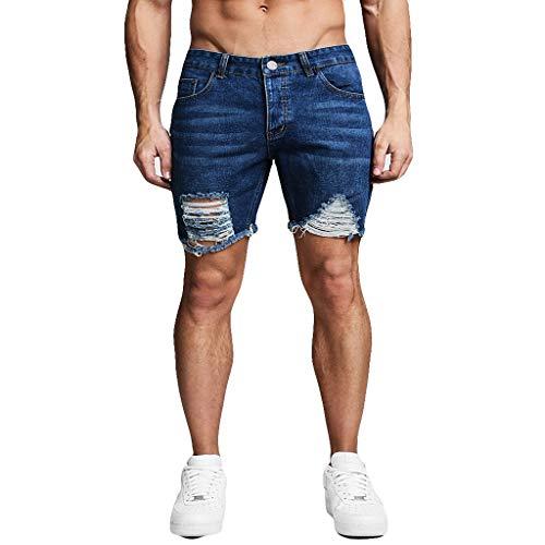 Herren Reißverschlusstasche Denim Baumwolle Multi Pocket Overalls Shorts Fashion Pant Denim Zipper Multi Pocket Shorts Blue M/L/XL/2XL/3XL
