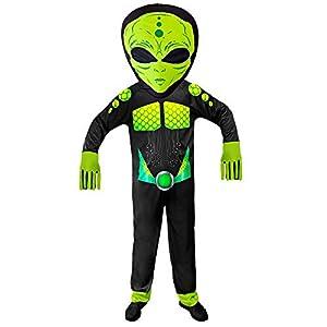 WIDMANN 01932 Disfraz Alien Unisex - Adulto, Negro/Verde, L/XL