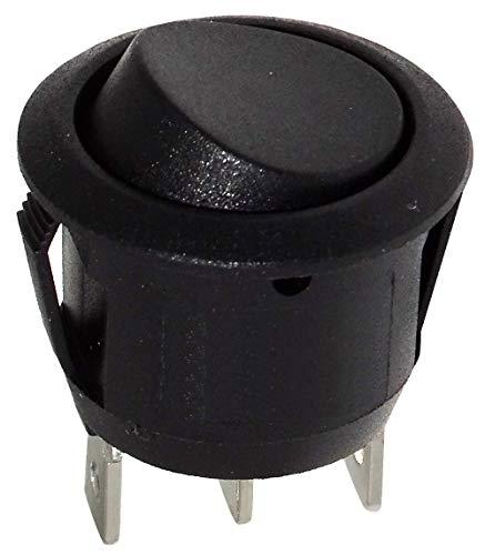 Interruptor conmutador de boton SPDT ON-ON 6A/250V 20A/12V.Conectores: 4,8x0,8mm.Modo de conmutacion: ON-ON.Temperatura de trabajo: -20...85°CDimensiones de apertura de montaje: Ø20.2mm.Numero de posiciones: 2Vida util: 6000 ciclosResistencia del con...