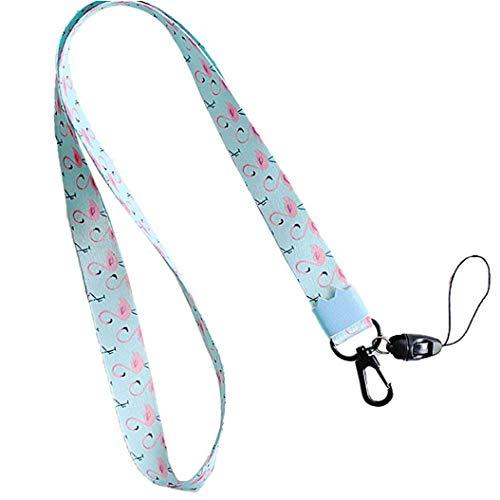 Verstellbare Handgelenkbänder Hand Lanyard Flamingo Keychain für Telefon-Kamera-USB-Schlüssel Frauen Männer Car Bag Schlüsselanhänger Accessoires
