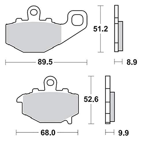 Bremsbelag Moto-Master RoadPRO Sinter hinten ZX-6R (636) Ninja ZX636C 05-06