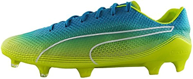 Puma Evospeed Fresh FG de - Crampons de FG Foot - Bleu/Jaune 376486