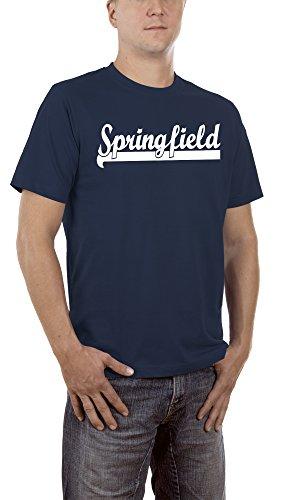 Touchlines Unisex/Herren T-Shirt Springfield - Homer, navy, L, (Bart Kostüm Hund)