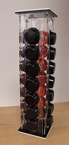 .:plexiartglass:. porta-capsule-cialde-caffè-lavazza-caffitaly-a colonna made in italy
