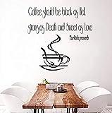 Wandtattoo Zitat Vinyl Aufkleber türkische Sprichwort Kaffeetasse Küche Dekor Art Wall Decals Wand Dekor Kinderzimmer Kinderzimmer 58x57 cm