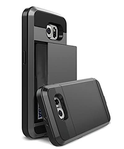 Etui Porte Carte Galaxy S6 - Coque Etui Housse de Protection Rangement pour