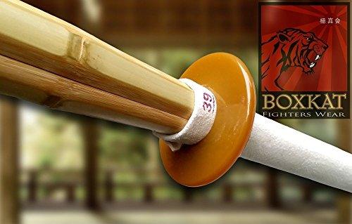 Shinai Bambus-Schwert, Kendo / Aikido Wettkampfschwert Ledergriff mit Tsuba
