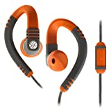 Sports Technology Best Deals - Yurbuds Explore Talk Sweat Proof Behind-the-Ear Hook Sport Earphones with Secure Fit TwistLock Technology, One-Button Microphone and Remote for Smartphones, Tablets and MP3 Devices - Burnt Orange