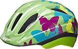 KED Meggy II Trend 2020 - Casco da Bicicletta, per Bambini, Colore: Blu/Verde, Bambini, 13304138221, Farfalla/Verde, XS | 44-49cm