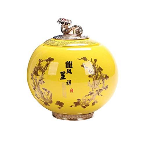AUGAUST Cuisson à Haute température de Stockage en céramique de thé scellant Le Lettrage inférieur Multifonctionnel Facile à Utiliser (Couleur : B, Taille : 1500ML)