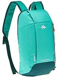 Quechua 10L Unisex Multipurpose Nylon Backpack (Mint Green)