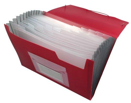 Q-Connect KF01274 Belegsammeltaschen und Fächertaschen rot