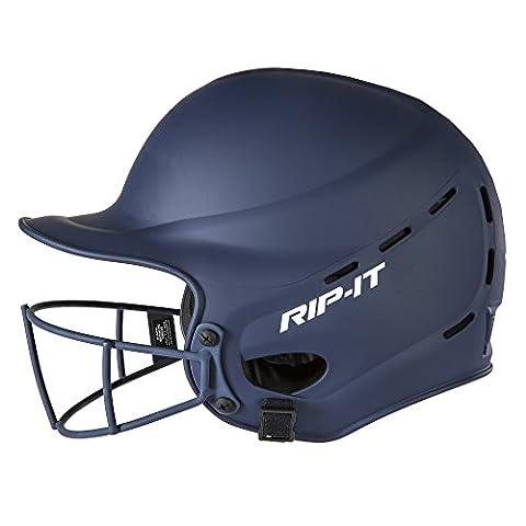 rip-it Casque ajustement Softball de batteur avec vision pro, bleu marine