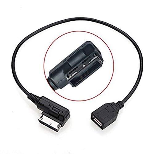 Supporto da 0,2 m Maschio a Femmina in AMI MDI USB AUX Flash Drive Cavo Adattatore per Auto VW Audi 2014 A4 A6 Q5 Q7